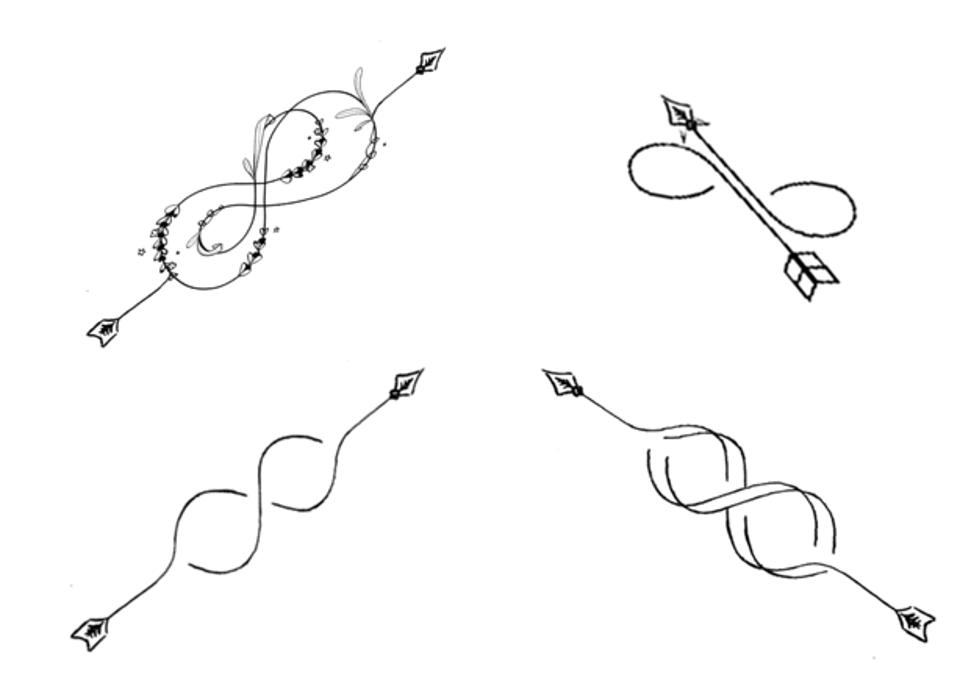 infinity arrows to infinity and beyond infini pinterest tatouages symbole amiti et infini. Black Bedroom Furniture Sets. Home Design Ideas