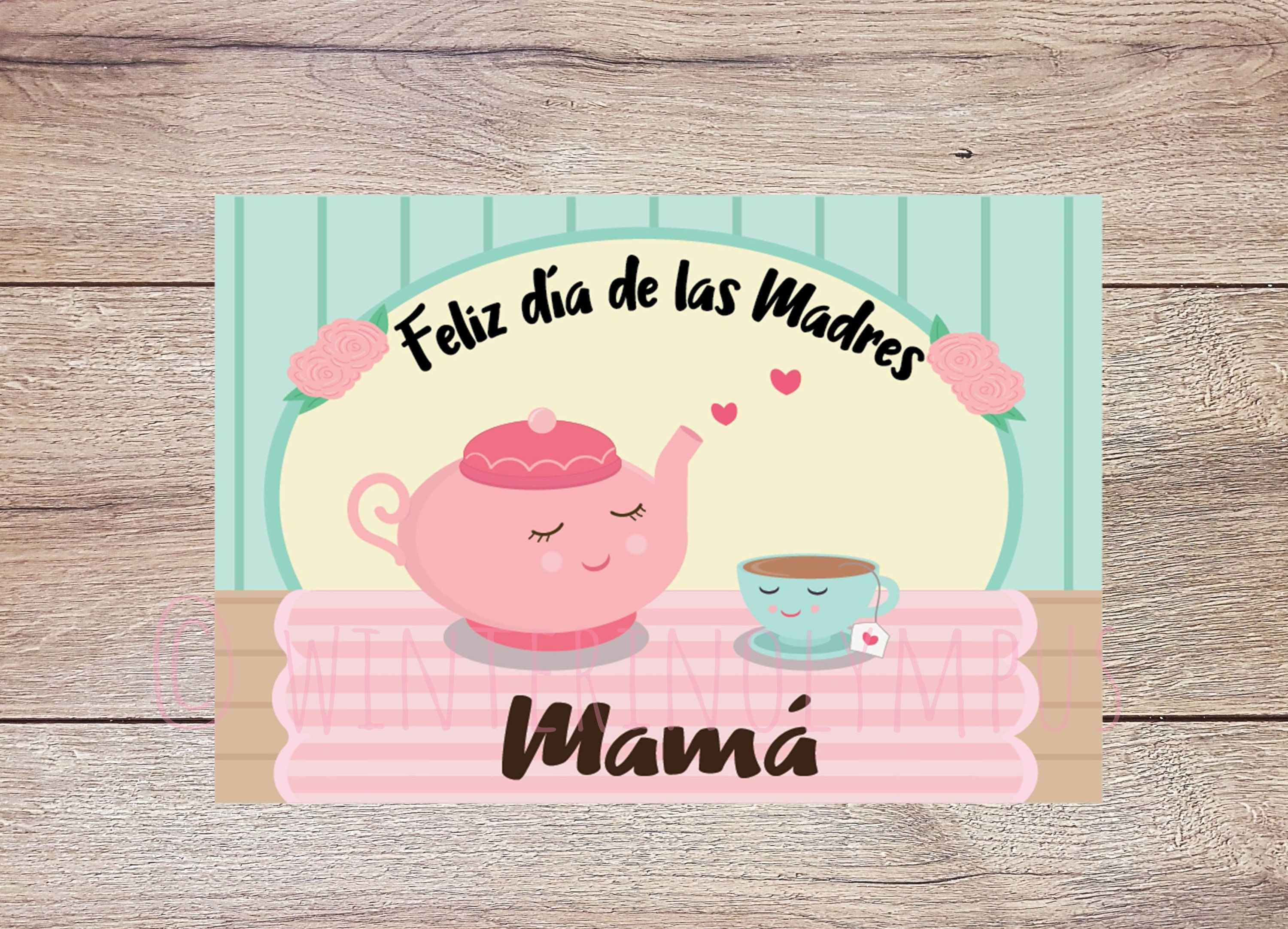 Spanish Mothers Day Greeting Card Printable For Mom