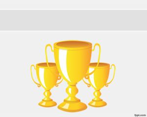 Trophies PowerPoint Template Is A Free Powerpoint With Golden Trophy Background That You Can Use