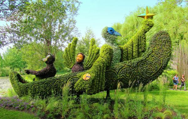 gartenfiguren aus pflanzen - wunderliche gartenkunst in atlanta,