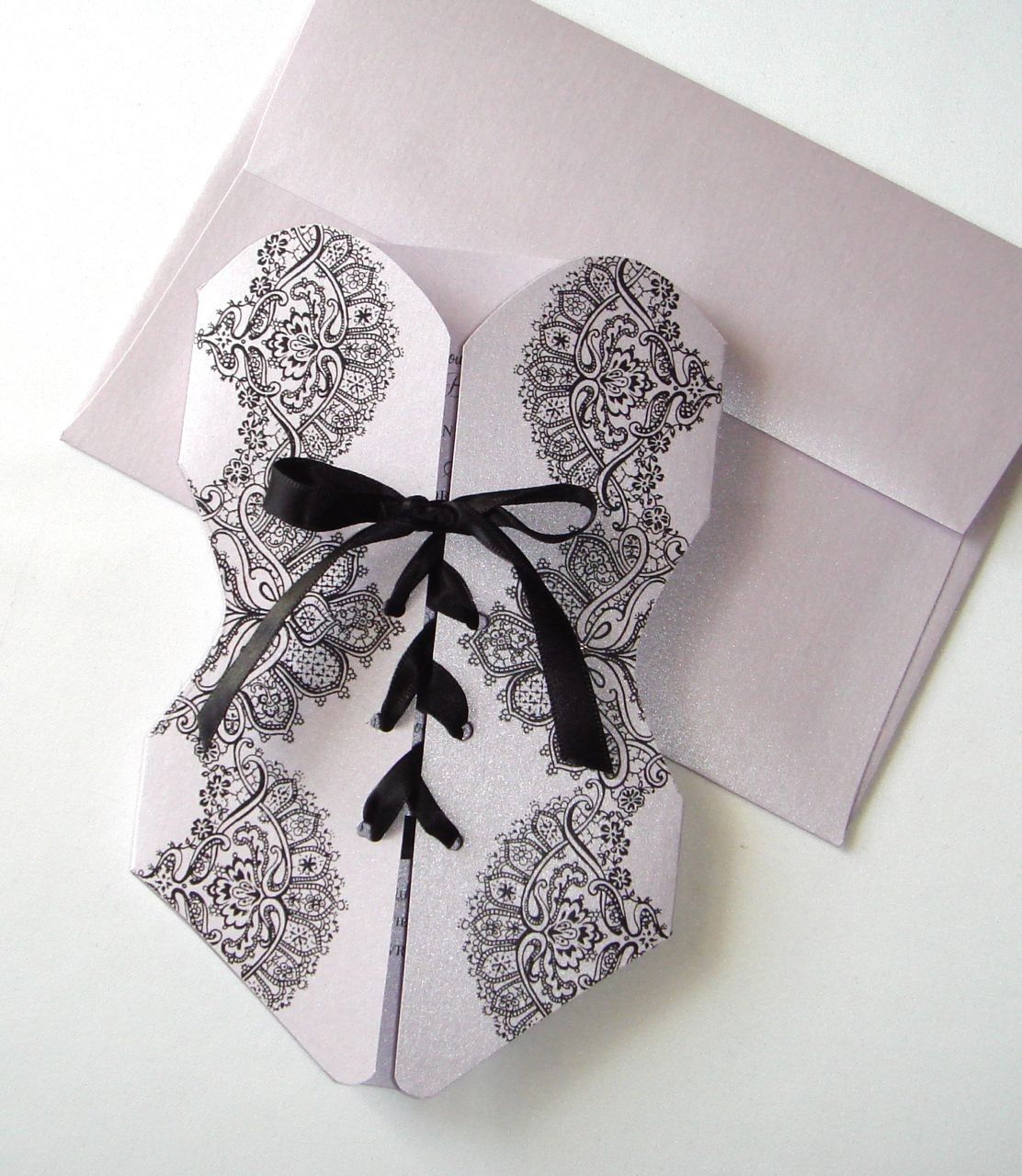Lingerie Corset Bridal Shower or Bachelorette Party Invitations - totally easy to make yourself