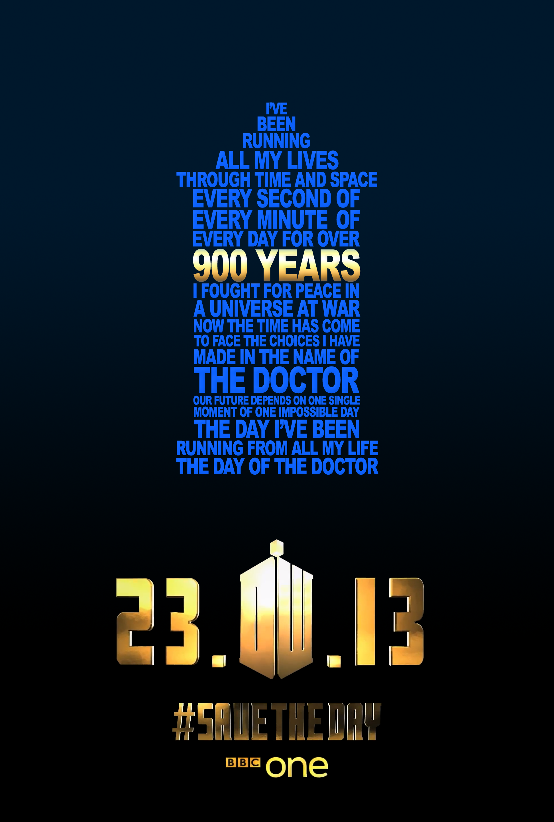 the day of the doctor typography poster who