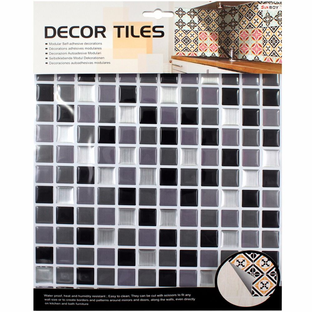 Decoration Tile Amazing Kitchen Bathroom Special 3D Wallpaper Mosaic Waterproof Self Inspiration
