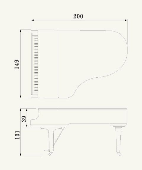Medidas Piano De Cola Cerca Amb Google Piano De Cola Piano Planos De Casas Pequenas