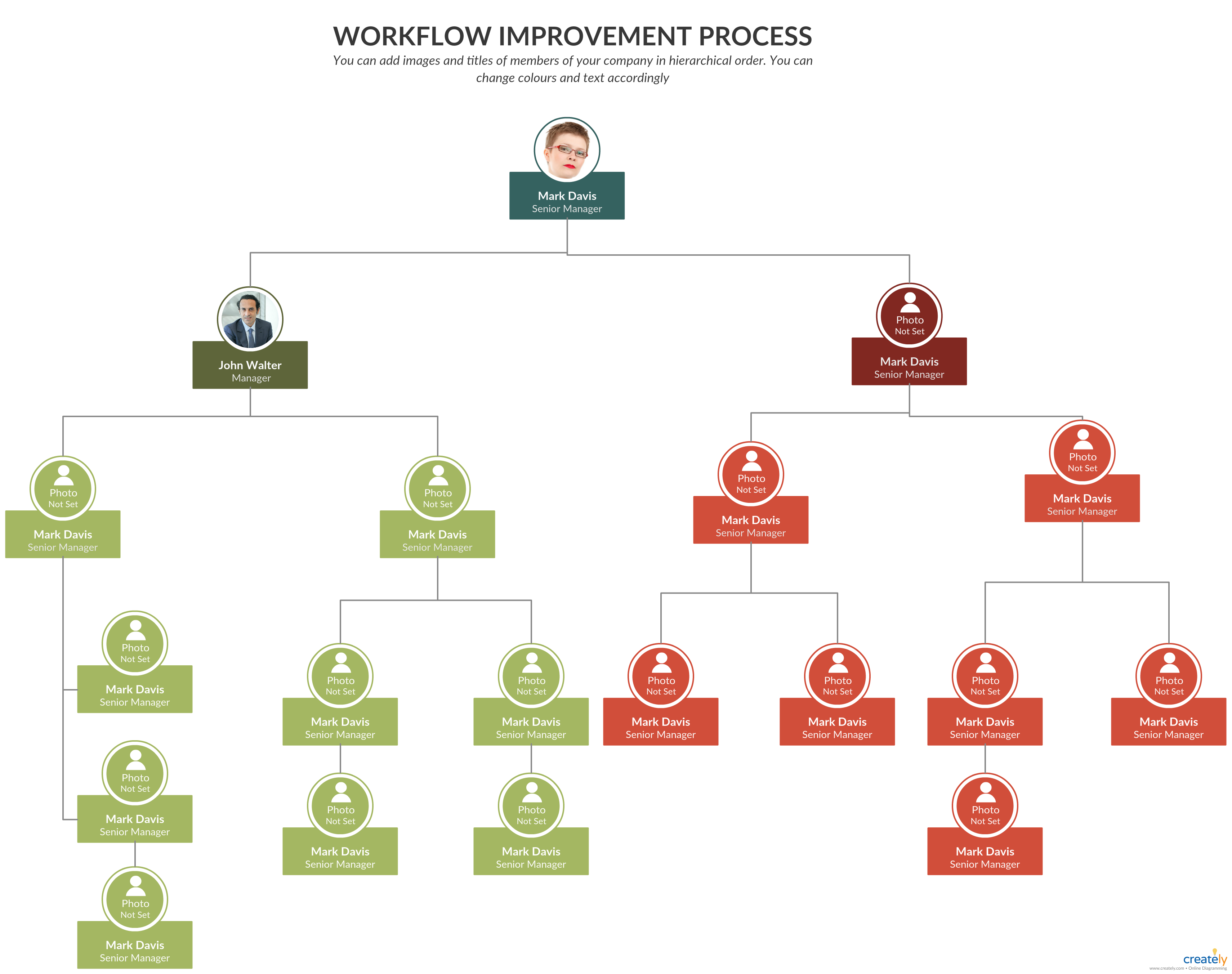 Org Chart For Workflow Improvement Project You Can Edit This Template And Create Your Own Diagram Creately Diagrams Org Chart Organigram Organization Chart