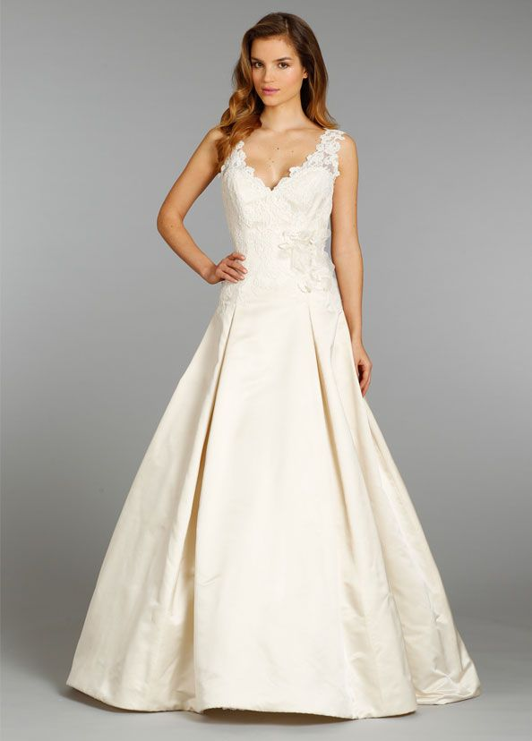 Styleav9357 Brulee Silk Faced Ss Bridal Ball Gown With A Box Pleated Skirt Ivory French