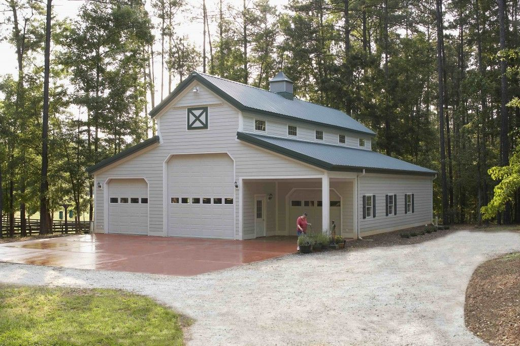 Morton buildings garage in georgia hobby garages for Pole barn garage homes