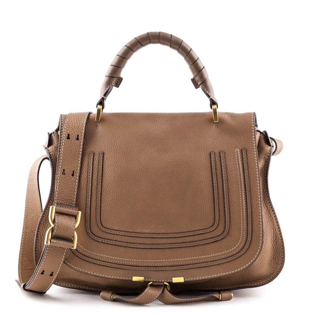 Chloe Beige Calfskin Marcie Satchel Bag Luxury Consignment