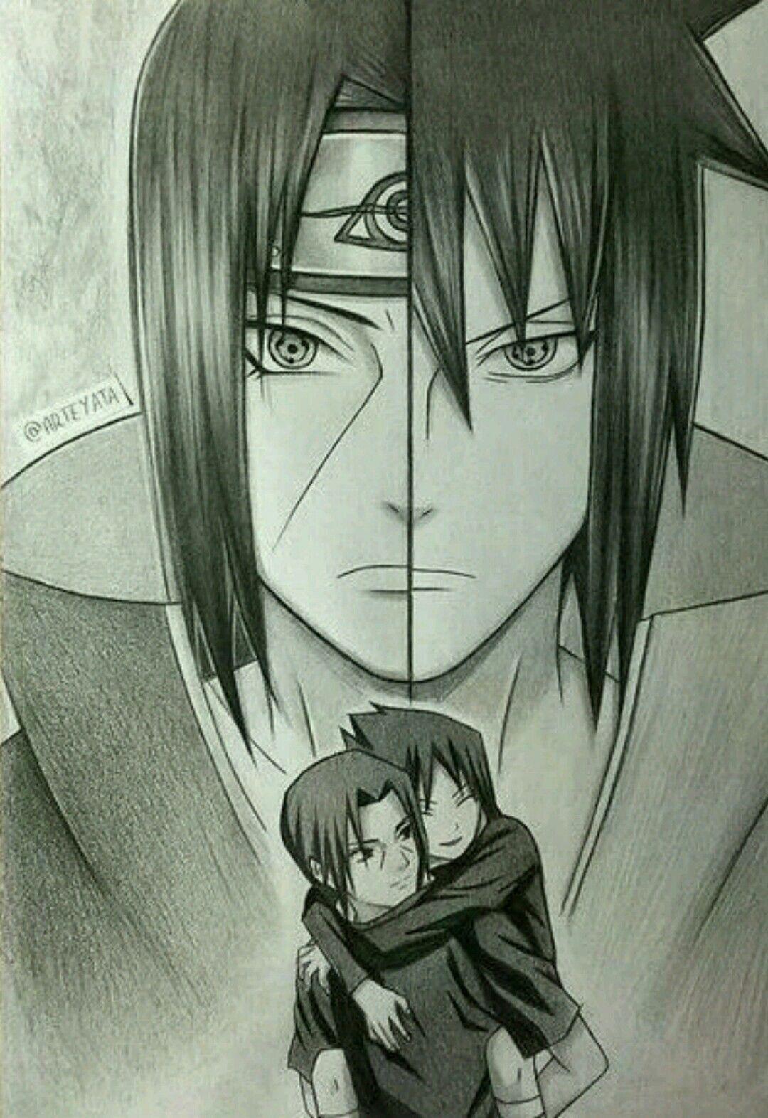 Itachi Sasuke Draw By Arteyata Manga Naruto Dessin