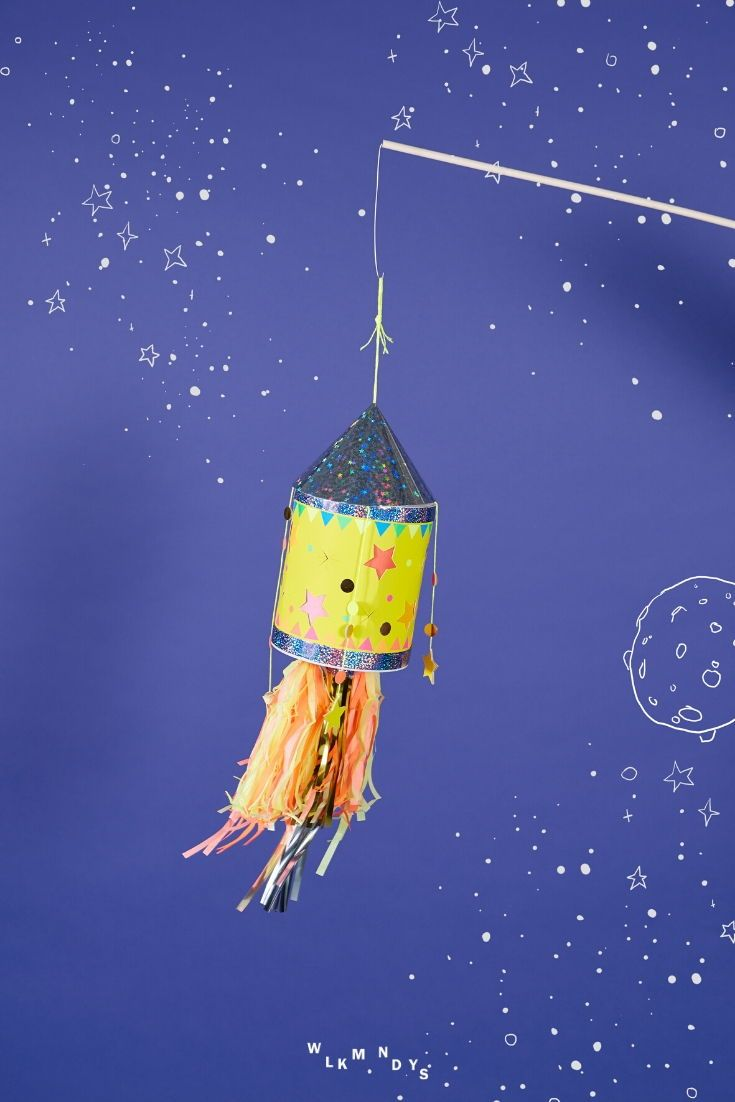 Laterne Bastelset: DIY Raketenlaterne - Basteln mit Kindern - WLKMNDYS