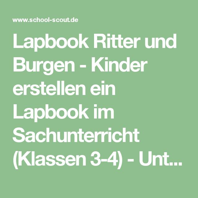 lapbook ritter und burgen kinder erstellen ein lapbook