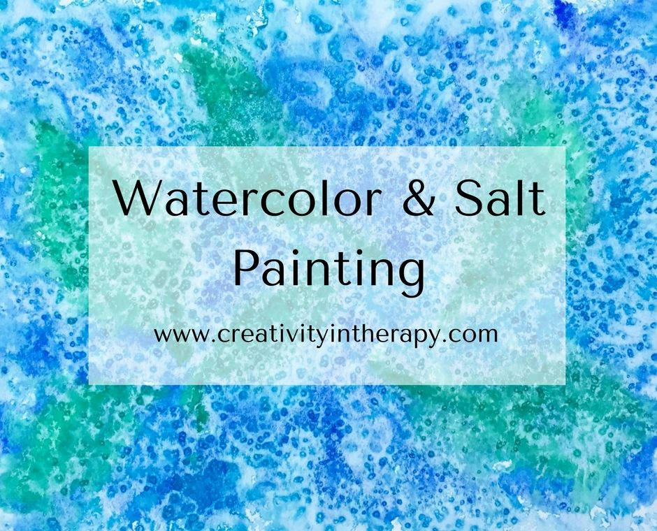 Salt Watercolor Painting Art Therapy Activities Salt Painting