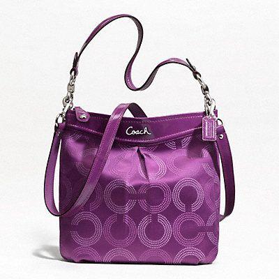 Coach Ashley Dotted OP Art Hippie Handbag F20088