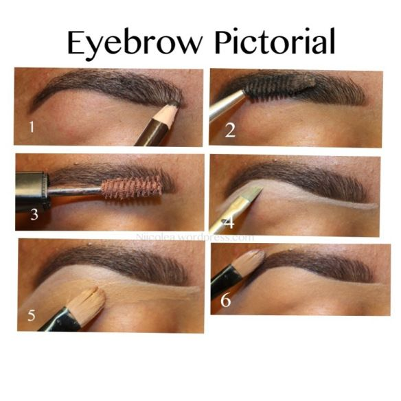 Eyebrow Tutorial Note How She Uses Foundation Also In Addition To