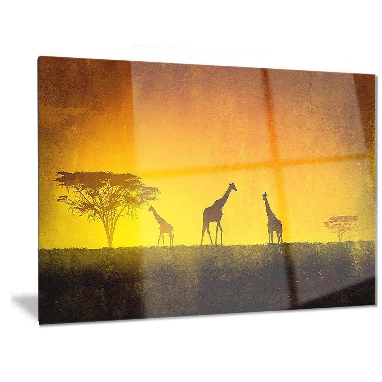 Designart \'African Sunset Aura\' Landscape Metal Wall Art by DESIGN ...