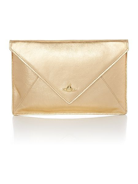 e284ea4a9ccc Vivienne Westwood Gold Envelope Clutch Bag (Available in Jenners via Buy    Collect)