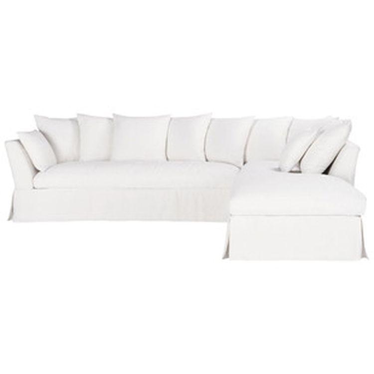 Sof de esquina fijo 5 plazas lino blanco 1 sofas pinterest sof s - Sofas de esquina ...