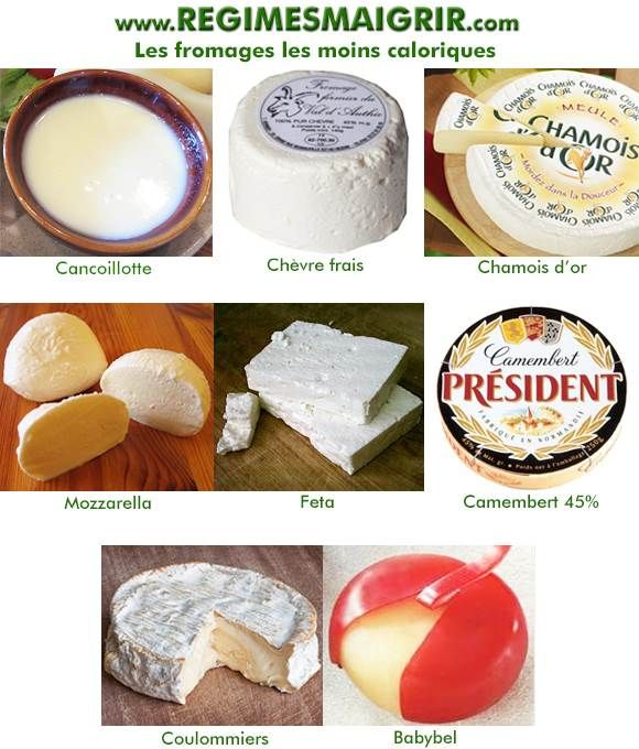 fromages les moins calorique