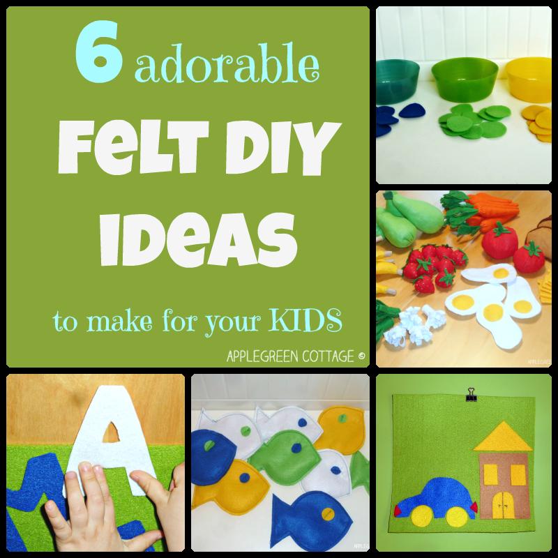 Felt Craft Ideas For Kids Part - 38: 6 Adorable Felt DIY Ideas