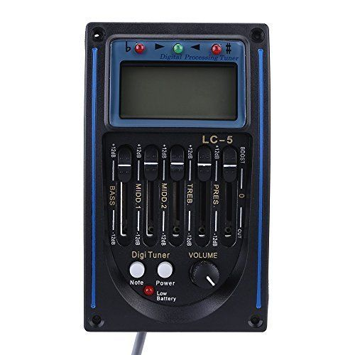 Yueyuezou Acoustic Guitar Preamp 5 Band Eq Equalizer Piezo Pickup Tuner Lcd For More Information Visit Image Acoustic Guitar Pickups Acoustic Guitar Guitar