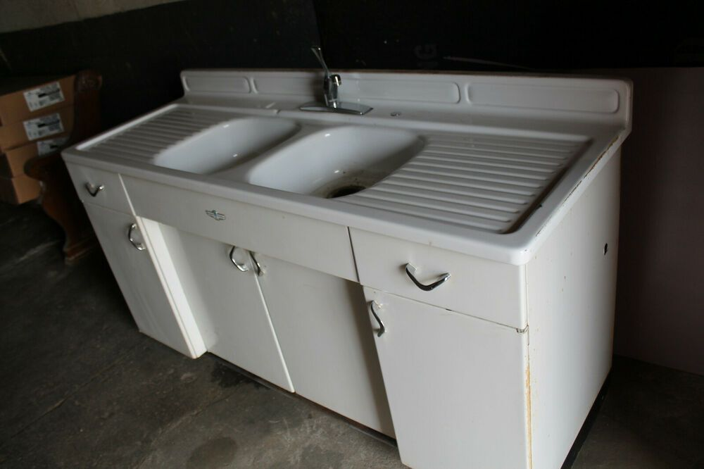 Vintage Youngstown By Mullins Steel Metal Retro Kitchen Cabinets Base And Sink Ebay Kitchen Technology Retro Kitchen Kitchen Cabinets