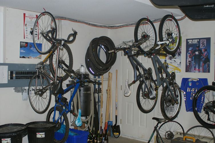 Ethan M Stores Some Bikes In The Garage And Others In The House