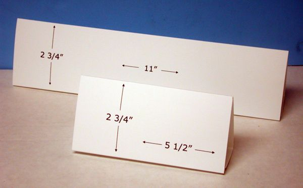 Table Tent Cards Horizontal Format Table Tents Tent Cards Cards