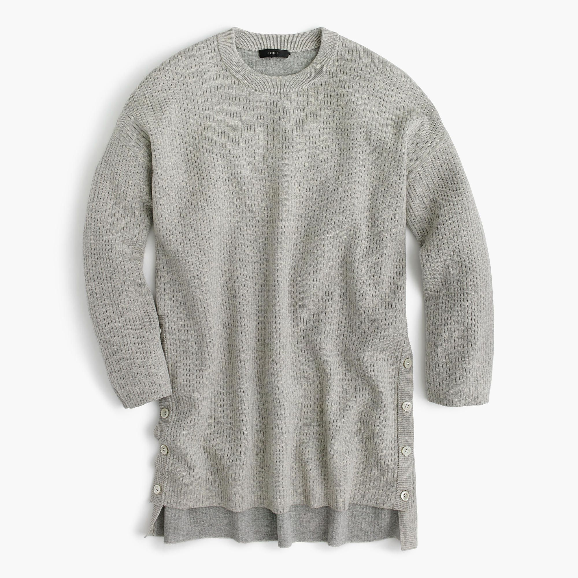 We made this oversized tunic sweater with merino wool on the ...