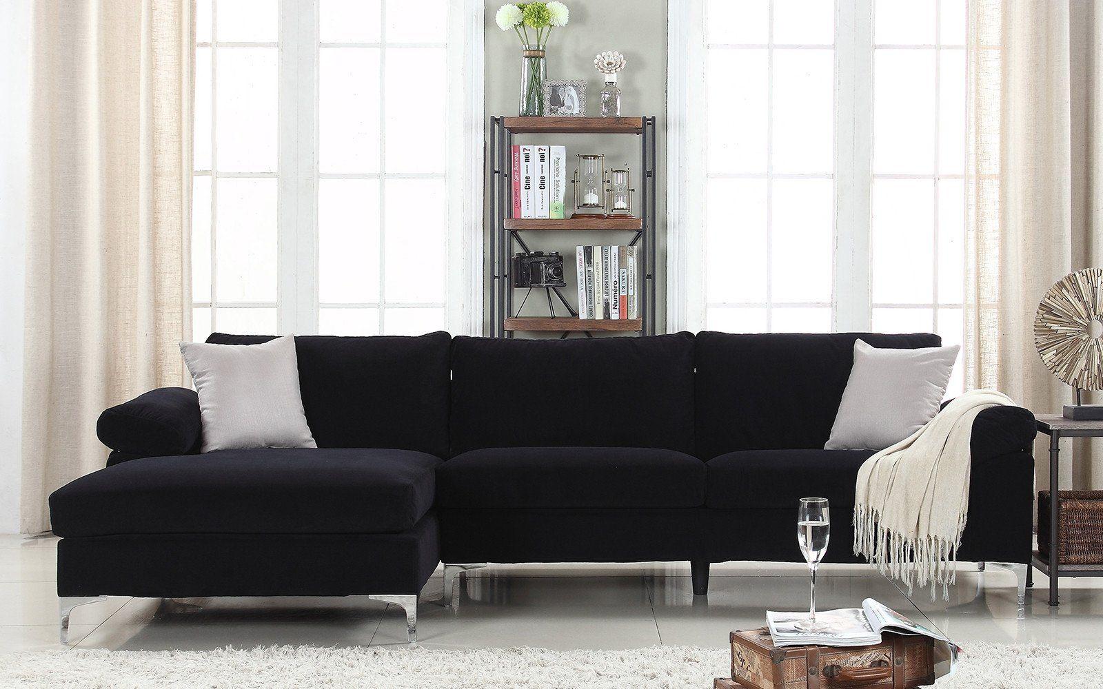 Amanda modern velvet large sectional sofa products