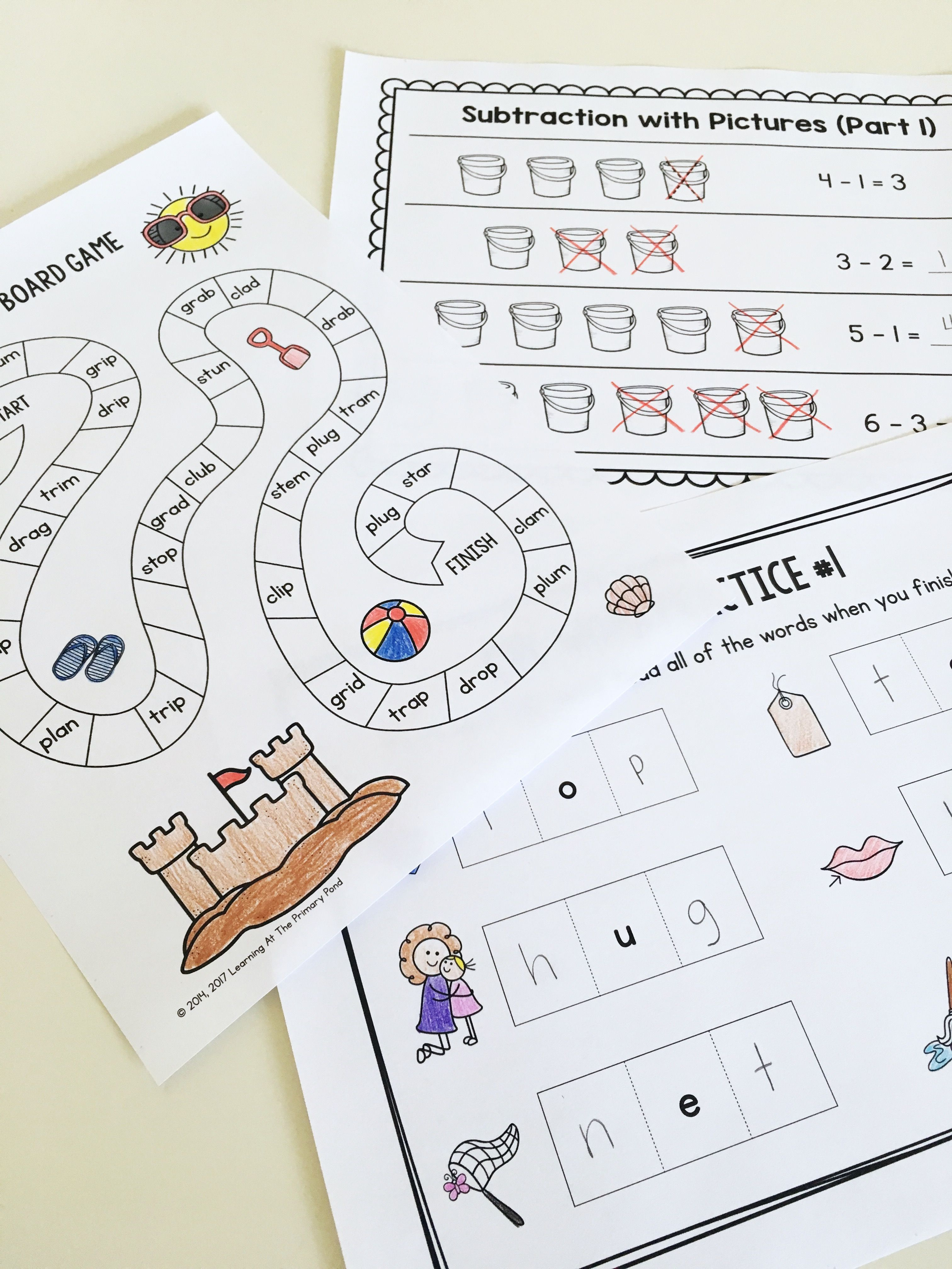 Summer Homework Pack For Rising First Graders Who Have
