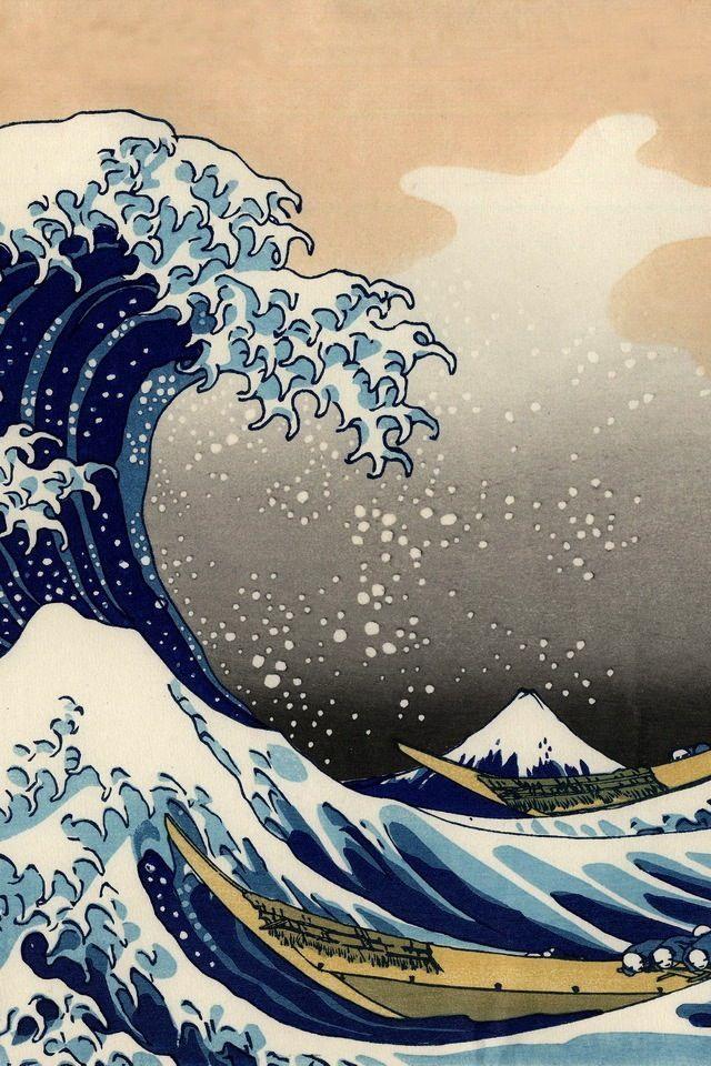 Japanese Art Lovely Art Wallpaper Waves Wallpaper Japanese Art
