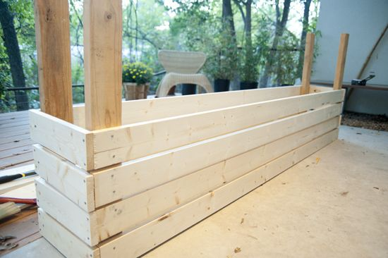 How To Build A Planter Box Hot Tub Planter Boxes Garden