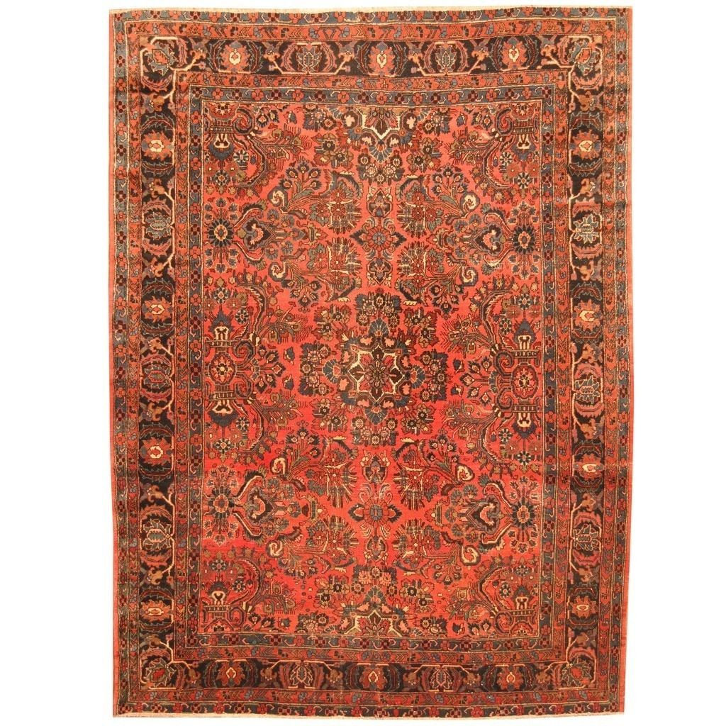 Herat Oriental Antique Persian Hand Knotted Sarouk Wool Rug X 19994586 Great Deals On Rugs Mobile