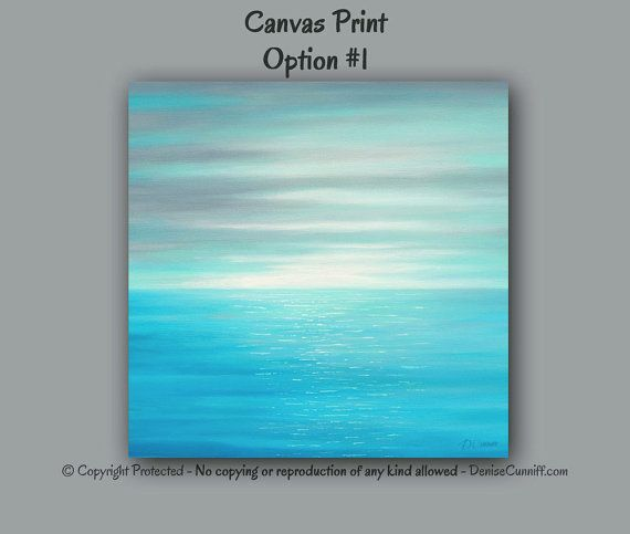 292e6fab3f7 Square canvas print of original seascape painting designed to enhance your  home or office decor.