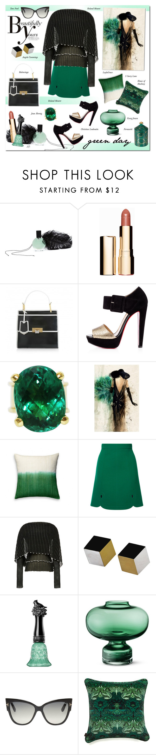"""""""Untitled #951"""" by louise-stuart ❤ liked on Polyvore featuring interior, interiors, interior design, home, home decor, interior decorating, L'Oeil du Vert, Sonam Life, Clarins and Balenciaga"""