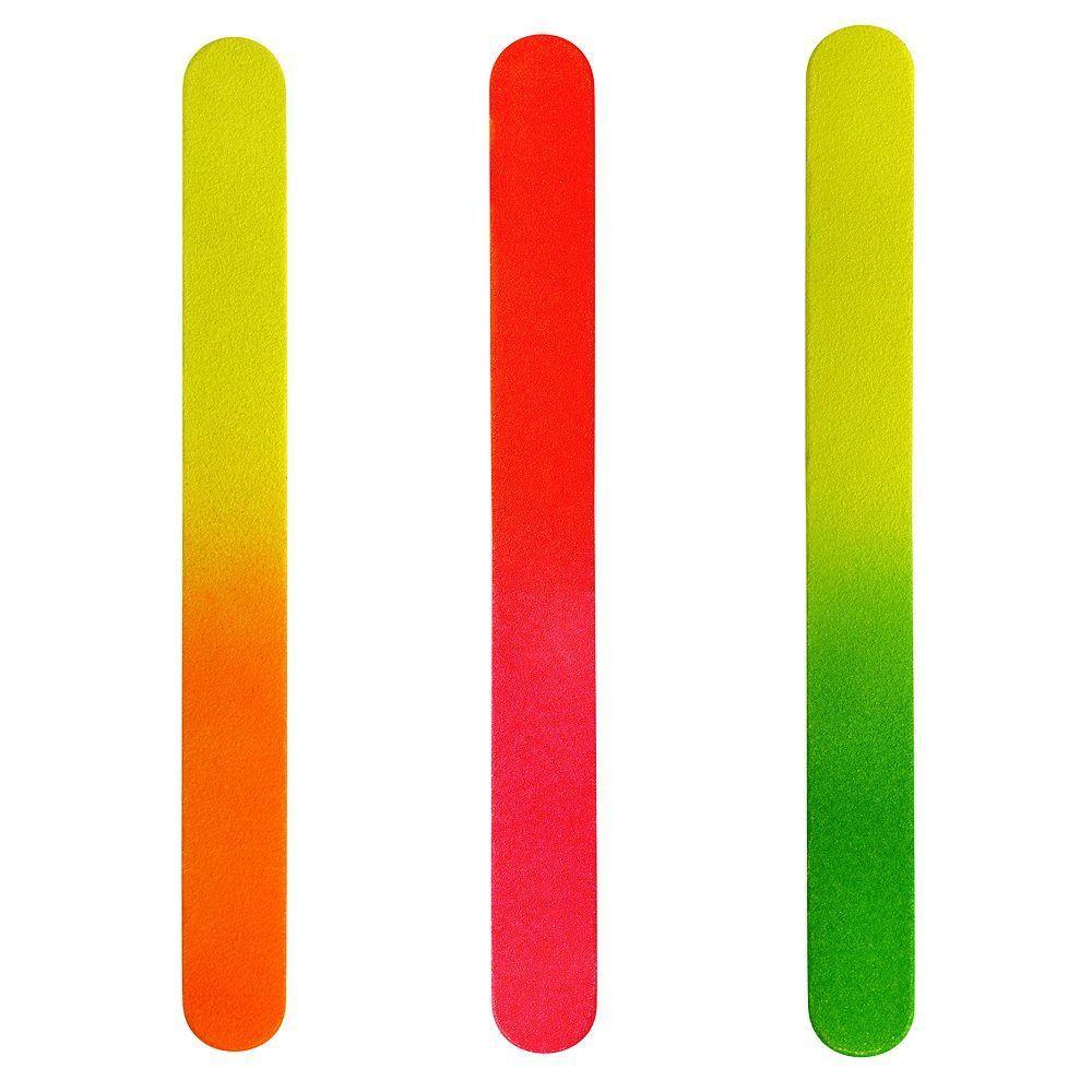 Tweezerman 3-pk. Neon Hot Nail Files, Multicolor