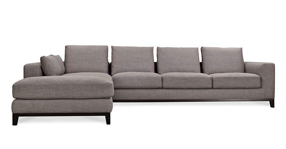 Peachy Kellan Sectional Sofa With Left Chaise Grey Tweed Capsule Gamerscity Chair Design For Home Gamerscityorg