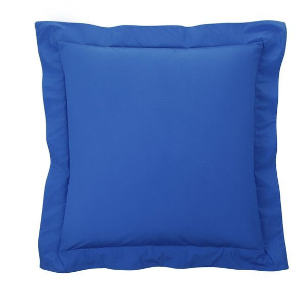 Descamps Kingdom Pillowcase - Azure - 65x65cm ($57) ❤ liked on Polyvore featuring home, bed & bath, bedding, bed sheets, blue, blue bedding and blue pillow cases
