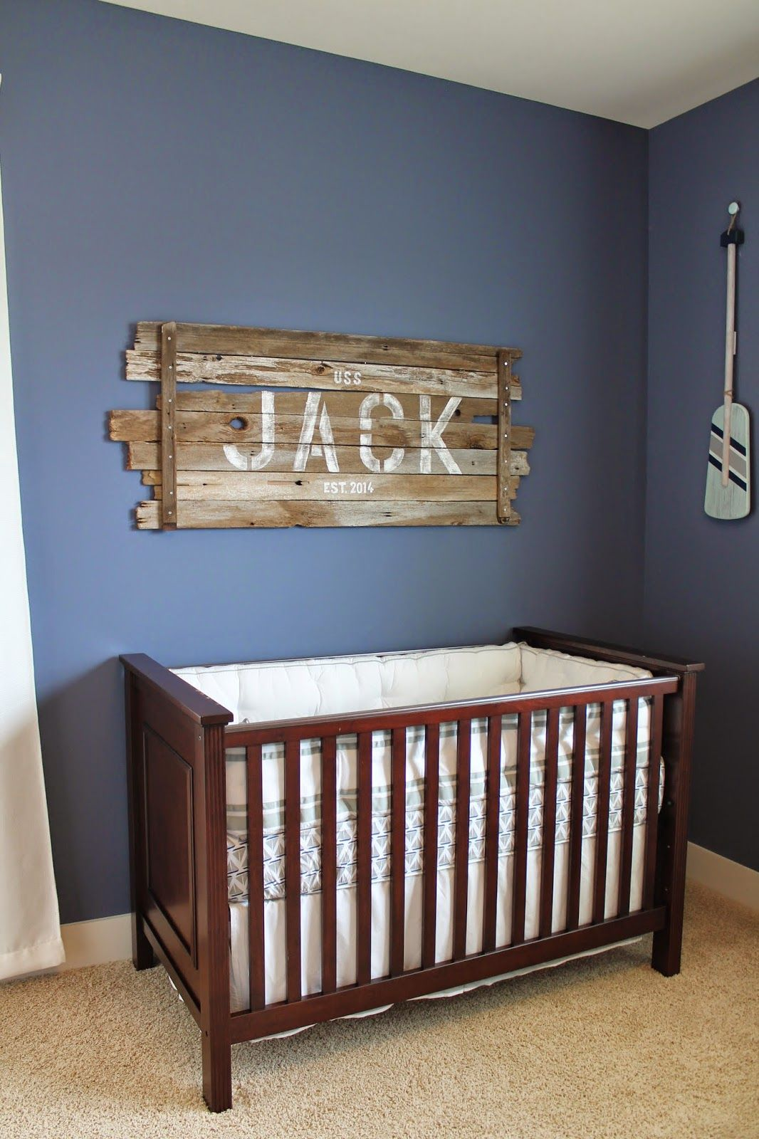 Nautical Baby Boy Nursery Room Ideas: The Pledger Family: Jack's Nautical Nursery