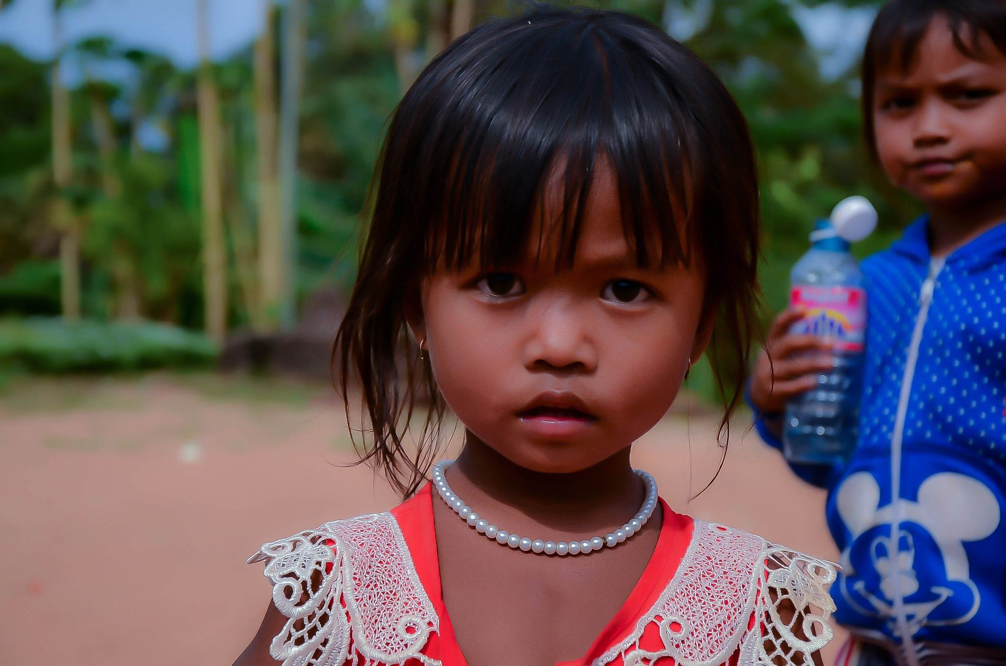 Poor Khmer Little Girl in Countryside Cambodia - Free