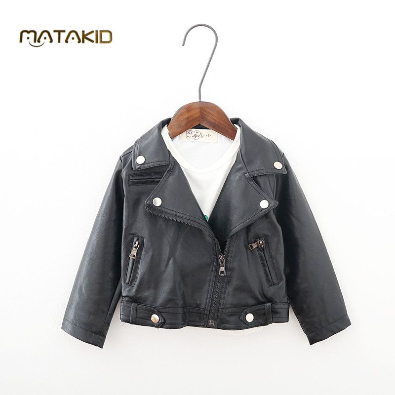858d4dfb9a70 New product Kids Leather Jacket Girls and Boys outerwear 2016 ...