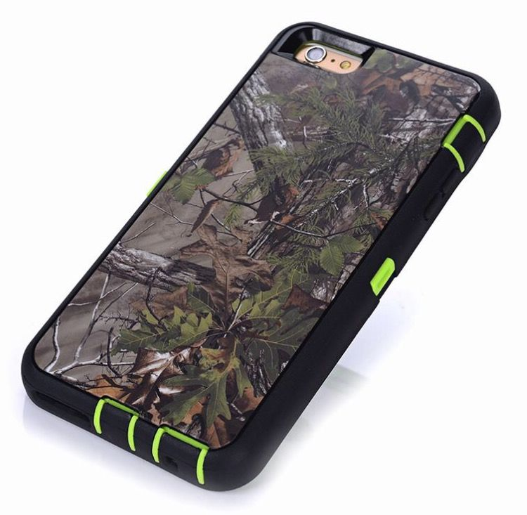 newest a1805 ec97d New Mossy Oak and Green Protective Case with Belt Clip / Stand for ...