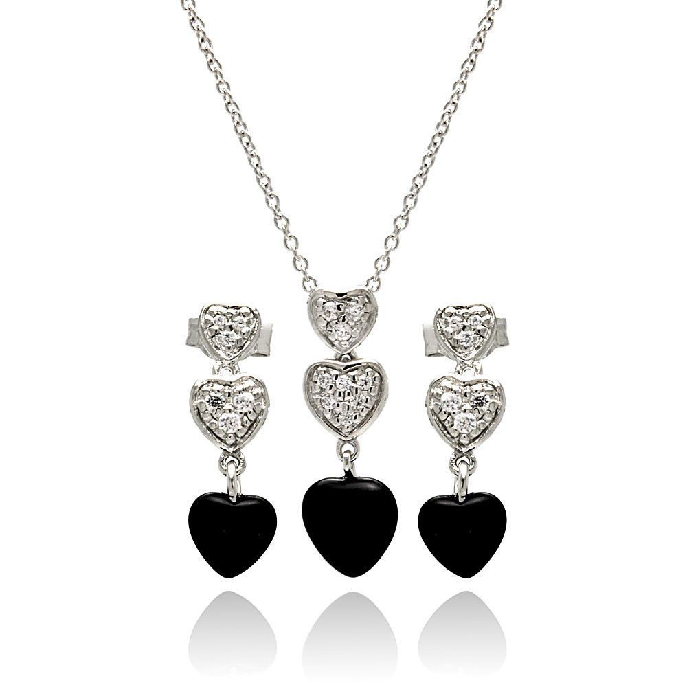 925 Sterling Silver Rhodium-plated Created White Topaz /& CZ April Stone Pendant Necklace 18