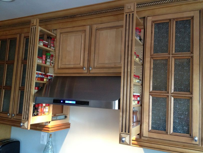3 Inch Pullout Kitchen Spice Rack Cabinet | Upper Kitchen Cabinets