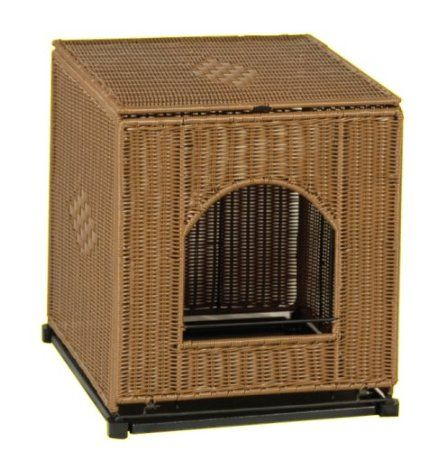 Decorative Litter Box $11999 Mrherzher's Jumbo Decorative Litter Pan Cover  Dark