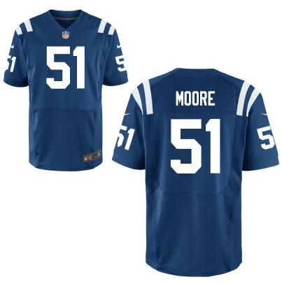 8bdf511da Men s Indianapolis Colts  51 Sio Moore Royal Blue Team Color NFL Nike Elite  Jersey