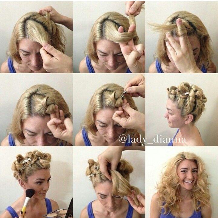 Hair hairdo tutorial curls