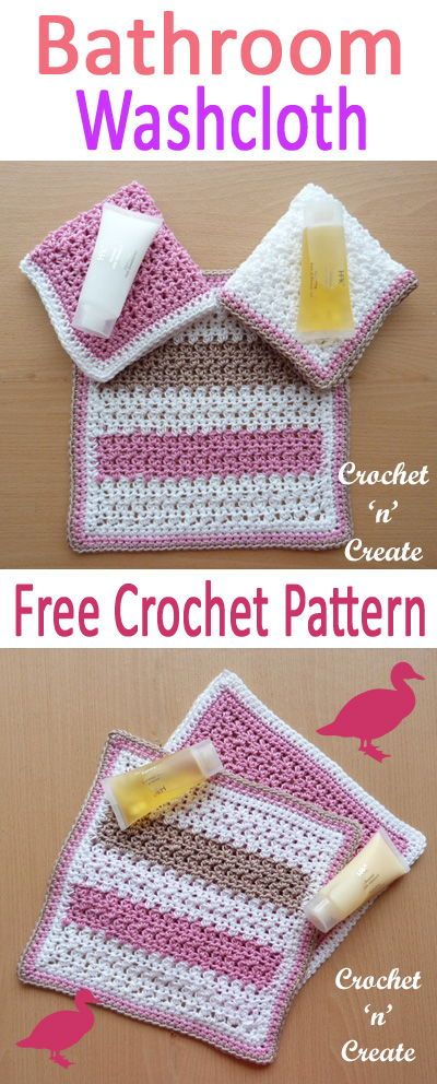 Bathroom Washcloth Free Crochet Pattern Dish Cloths Pinterest