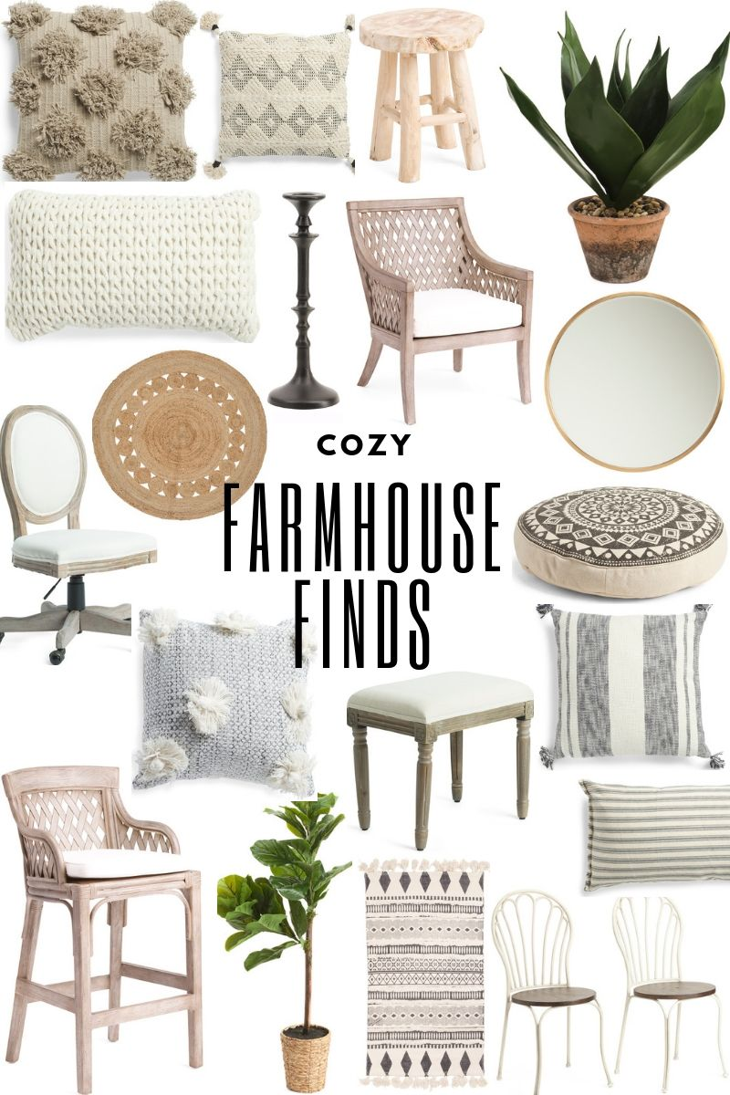 Cozy Spring Farmhouse Decor #amazonhomedecor