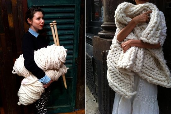 Loopy Mango / would love to knit with that chunky yarn and huge needles!